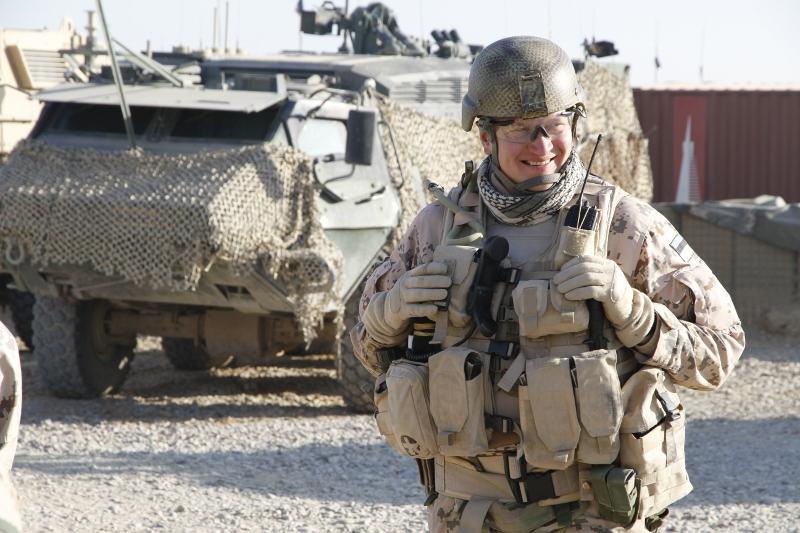 Kapten Metjer sõjalisel operatsioonil Afganistanis.