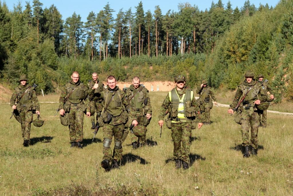 Kõrgema Sõjakooli ühtlustamiskursusel osalejad 2013. aastal.