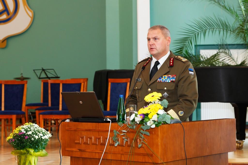 Kaitseväe juhataja kindralmajor Riho Terras pidas õppeaasta avaloengu.