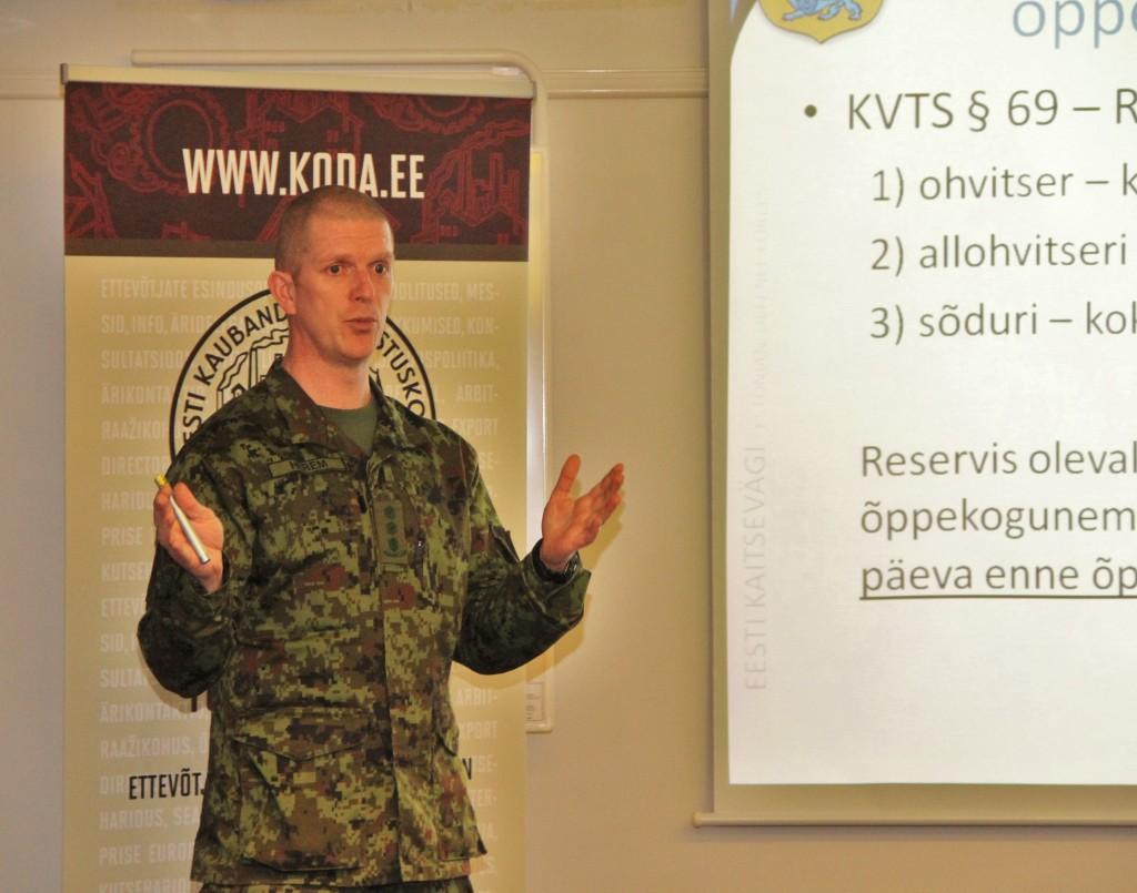 Kolonel Martin Herem kaubanduskoja koosolekul. Foto: Ave Eerma