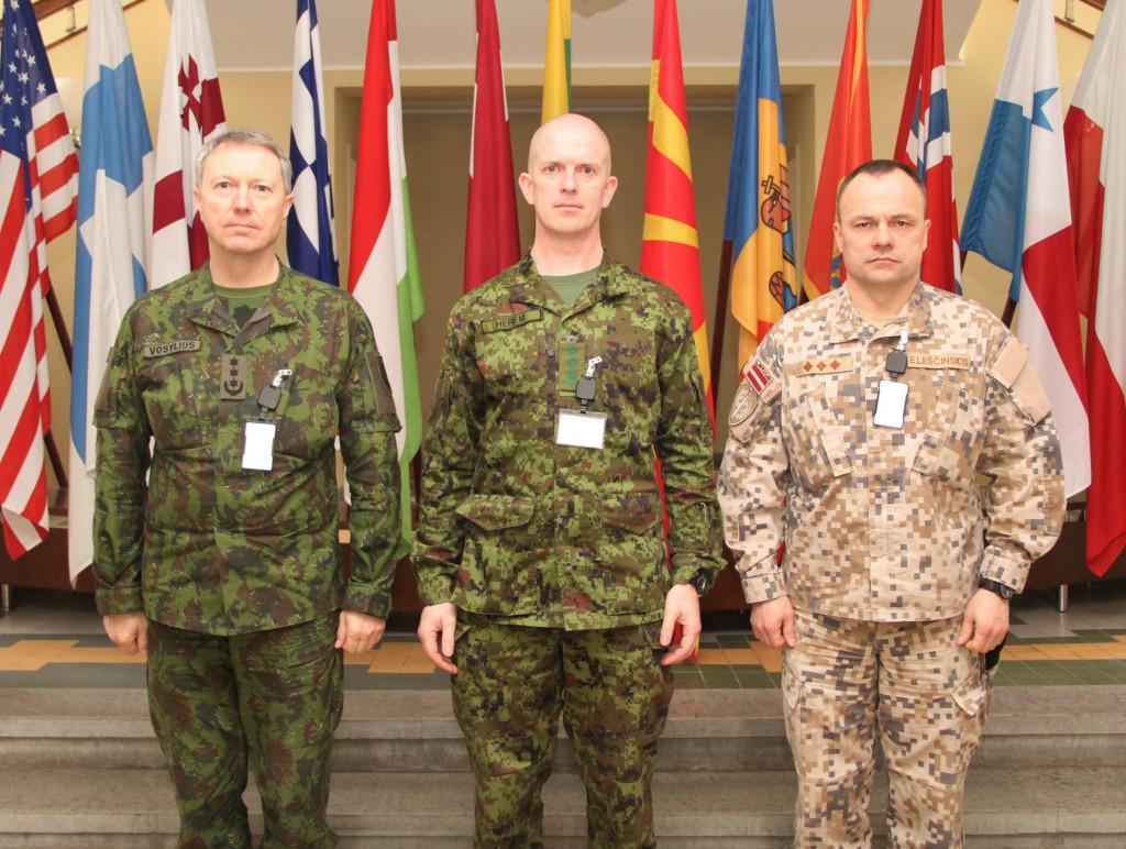 Eesti, Läti ja Leedu sõjakoolide ülemad. Foto: Ave Eerma