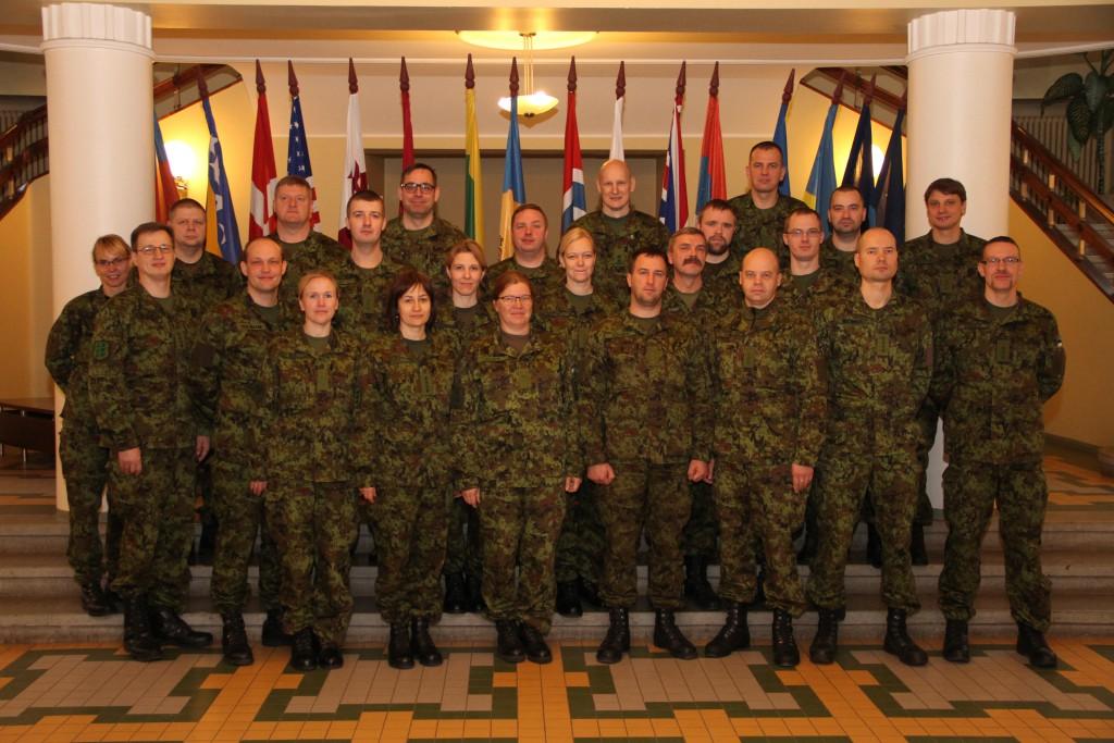 Nooremstaabiohvitseride kursusel osalejad. Foto: Ave Eerma