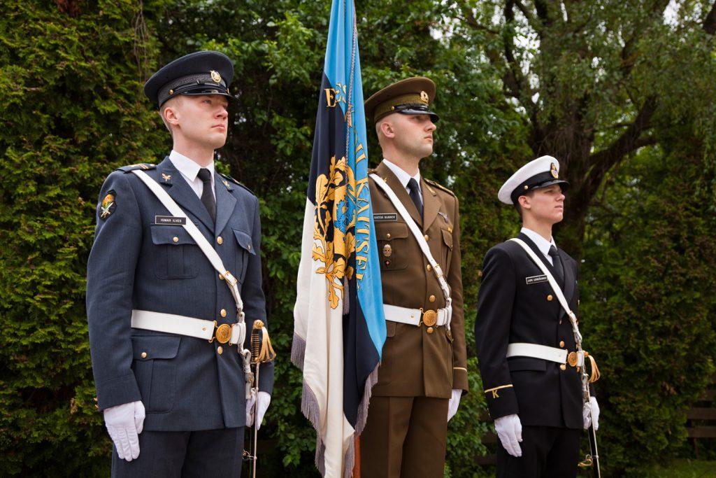 Kõrgema Sõjakooli õhu-, maa- ja mereväe kadetid. Foto: Ave Eerma