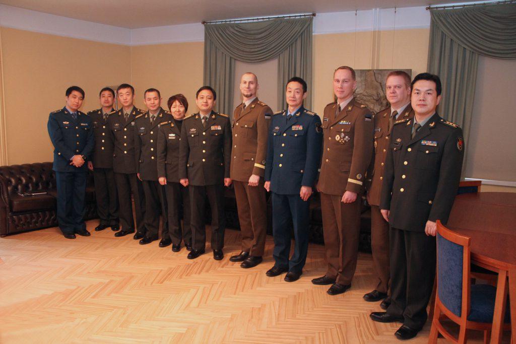 Hiina delegatsioon Kaitseväe Ühendatud Õppeasutustes